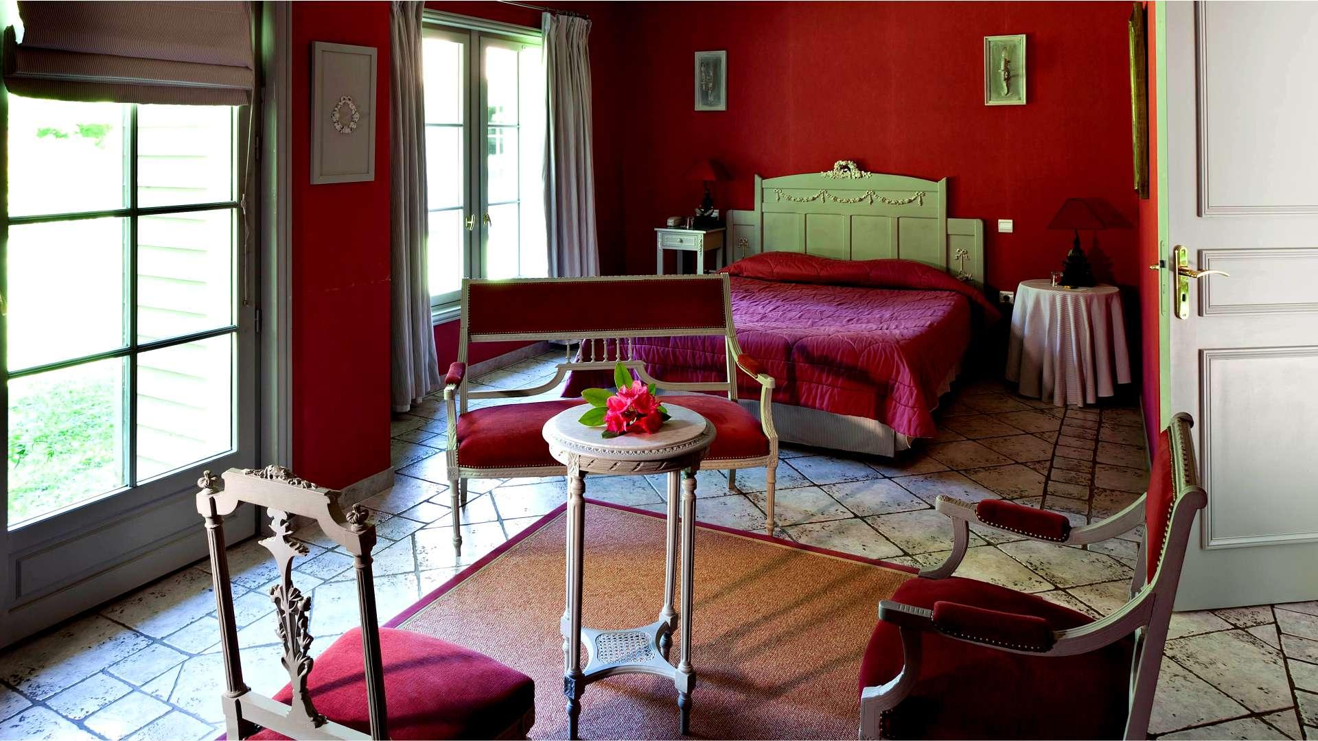 Chambre Luxe Najeti Hôtel Château Cléry