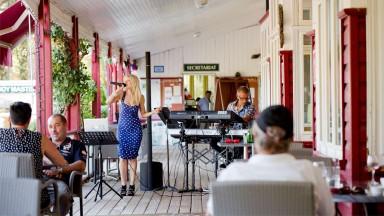 La terrasse de la Najeti Brasserie le Club House
