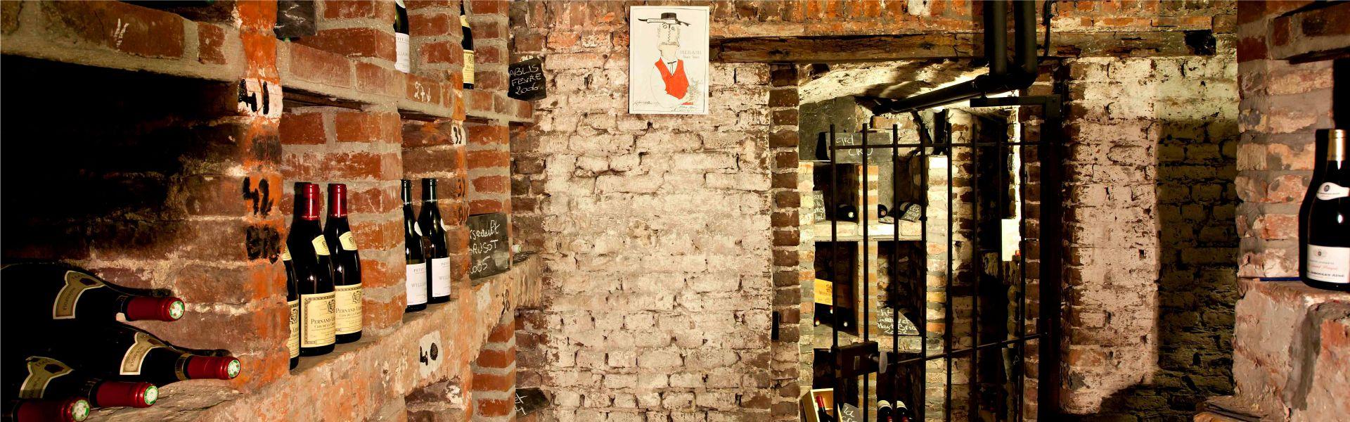La cave à vins du Najeti Restaurant le Clusius