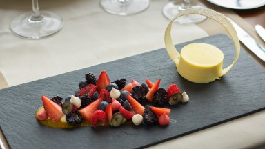 Dessert Najeti Restaurant Le Lodge