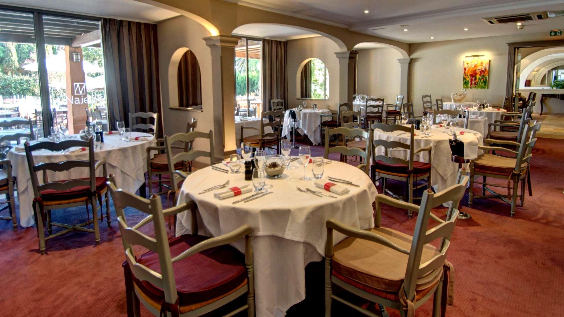 Restaurant du Najeti Golf Hôtel de Valescure à Saint-Raphaël